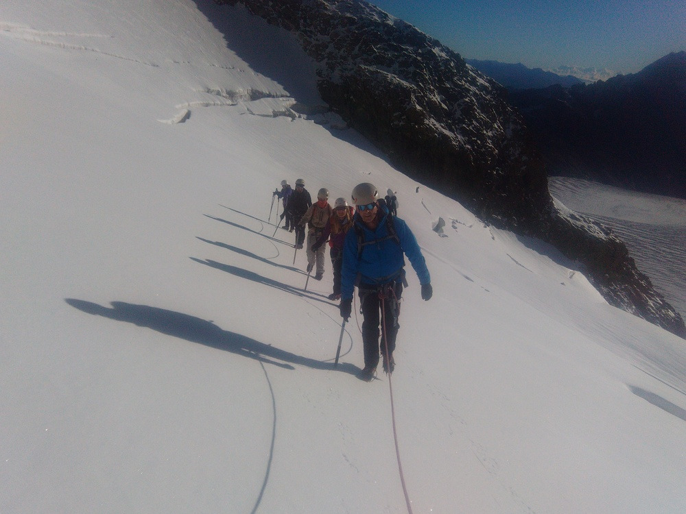 Stage initiation Alpinisme - Montée vers Roche Faurio