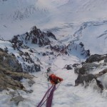 Goulotte Pschitt - A la sortie du crux