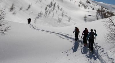 Une belle trace en ski de randonnée