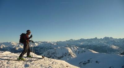 En ski sur les hauteurs du Briançonnais