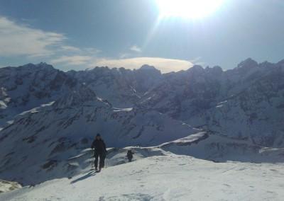 Arrivée au Pic Blanc du Galibier