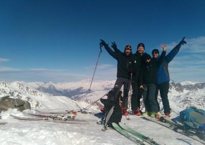 Au sommet du Pic Blanc du Galibier