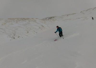 Marion à la descente du Pic Traversier