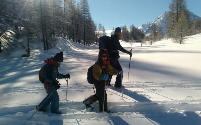 Montagne hivernale en famille