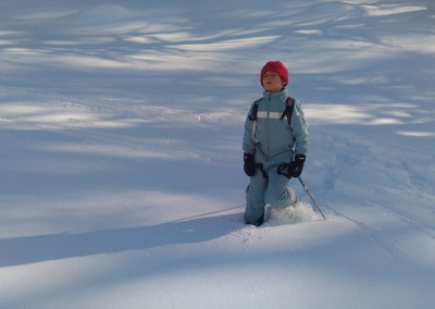 Un lutin perdu dans la neige