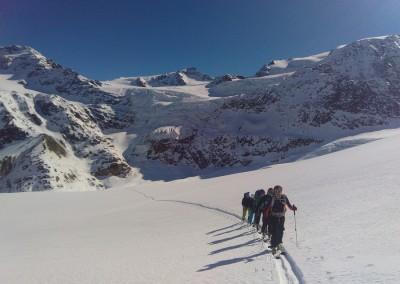 Sur le Glacier du Forni