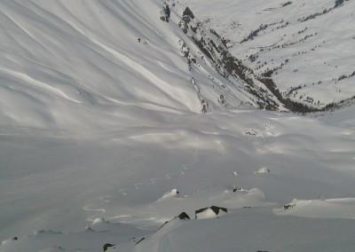 Première descente vers le Roche Blanc