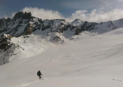 Virages sur le Haut Glacier d'Arolla