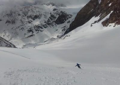 Du bon ski dans le bas du Glacier des Murailles