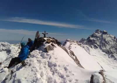 Au sommet de l'Aiguillette d'Asti