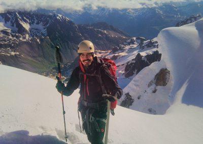 Stage initiation alpinisme - A la sortie du couloir du Pic d'Arsine