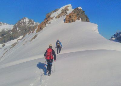 Stage initiation alpinisme - Arrivée au  Pic d'Arsine