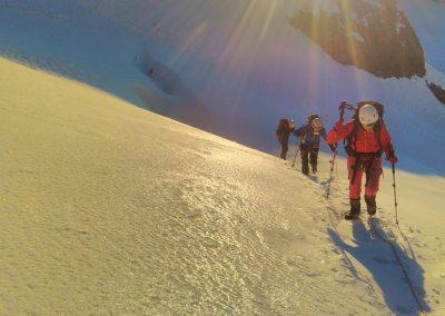 Stage initiation alpinisme - Levé de soleil à la Roche Faurio