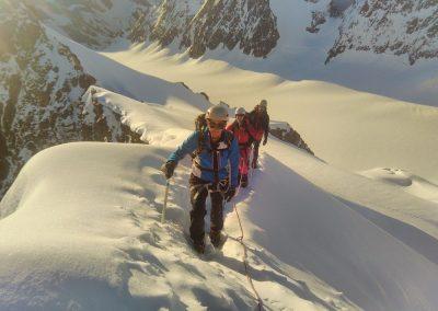 Stage initiation alpinisme - Arrivée à l'antécime