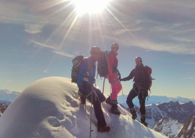 Stage initiation alpinisme - A L'antécime
