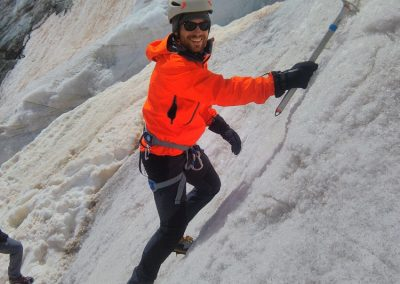 Stage Dôme des Ecrins - Gaétan à l'école de glace