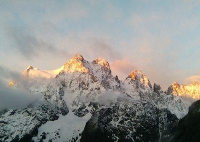 Stage initiation alpinisme - Levé de soleil sur le Pelvoux