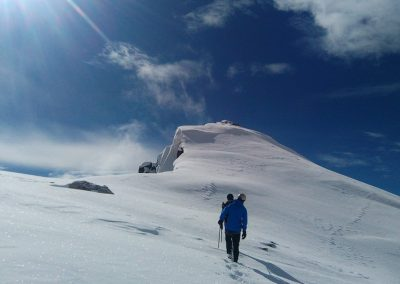 Stage initiation alpinisme - Arrivée à 7000m