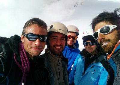 Stage initiation alpinisme - Selfie de groupe