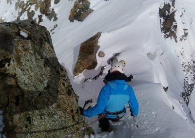 Stage initiation alpinisme - Sur l'arête vers le col du Glacier Blanc