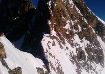 Meije Orientale - Vue depuis la brèche Maximin Gaspard