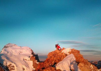 Stage autonomie - Roche Paillon - Au sommet