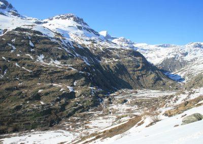 Raid ski Haute Maurienne - Vue sur l'Ecot