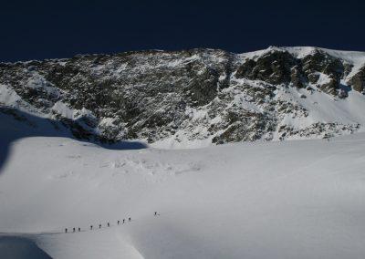 Raid ski Haute Maurienne - Ptit groupe vers l'Albaron