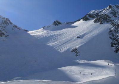 Raid ski Haute Maurienne - Vers le col de la Petite Ciamarella