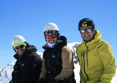 Raid ski Haute Maurienne - Le trio au sommet de la petite Ciamarella