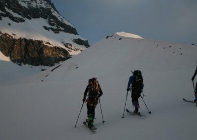 Raid ski Haute Maurienne - Départ pour le col de la Bessanèse