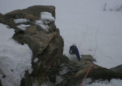 Raid ski Haute Maurienne - La mini via ferrata de l'Albaron