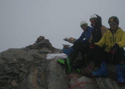 Raid ski Haute Maurienne - Au sommet de l'Albaron