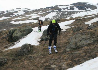 Raid ski Haute Maurienne - Un peu d'herbe pour la glisse