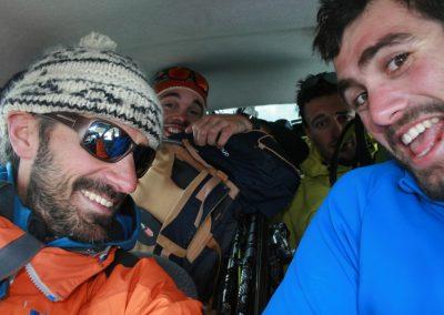 Raid ski Haute Maurienne - Et on s'entasse dans la twingo!