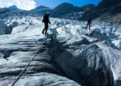 Stage autonomie alpinisme - Sur le Glacier Blanc