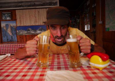 Arête nord Piz Badile - Jamais de prise de décision avant la bière!