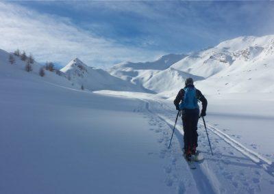 Initiation ski de randonnée - tête du Crachet - En route