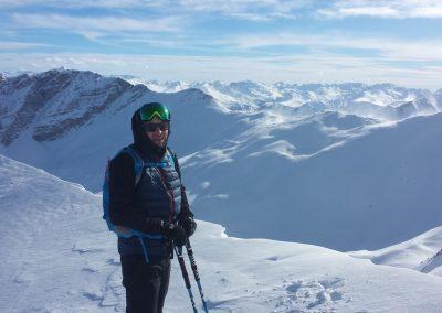 Initiation ski de randonnée - tête du Crachet - Le vent nous invite à filer dare dare