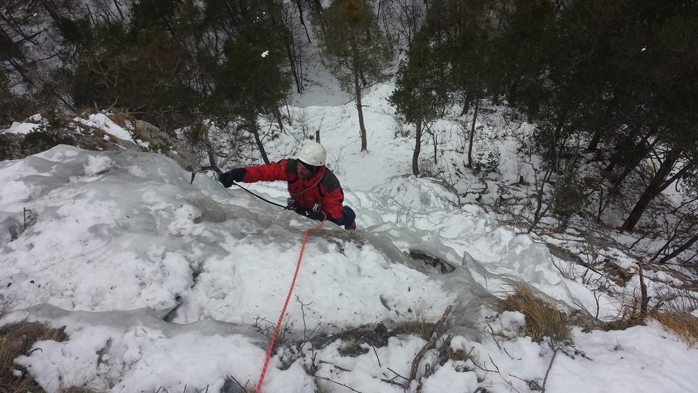 Initiation cascade de glace - Cédric se promène