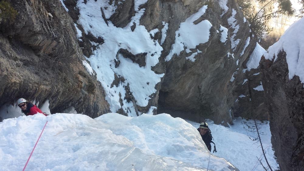 Initiation cascade de glace - Ceillac - Chacun sa variante