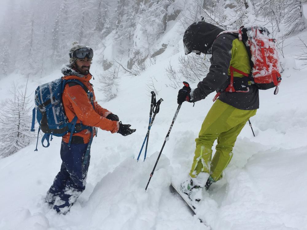 Hors piste Puy-St-Vincent - Chute de neige copieuse= content!