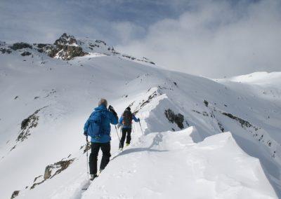 Ski de randonnée Pelvoux - Après la croix du Chastellet, sur l'arête