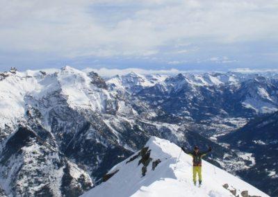 Ski de randonnée Pelvoux - Tor profite du paysage