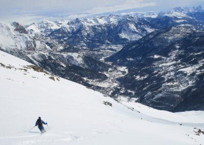 Ski de randonnée Pelvoux - Eddy aux manoeuvres
