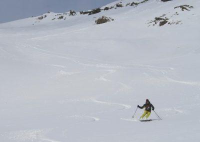Ski de randonnée Pelvoux - descente sur Puy-Aillaud