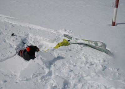 Ski de randonnée Pelvoux - Quelques changement de neige un peu fourbes!