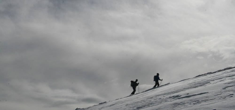 Tête de Fouran - Cédric et Julien arrivant au sommet!