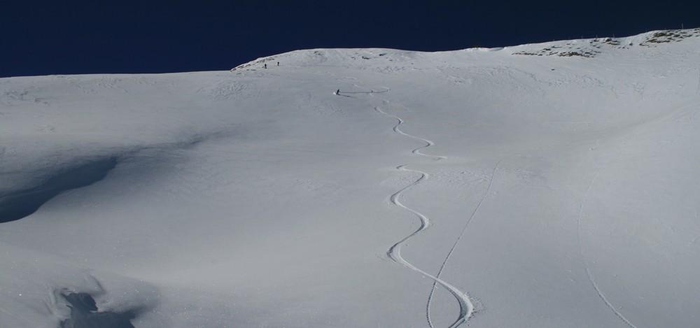 Ski de randonnée - Les Orres - Premières traces en dehors des pistes, pas mal!