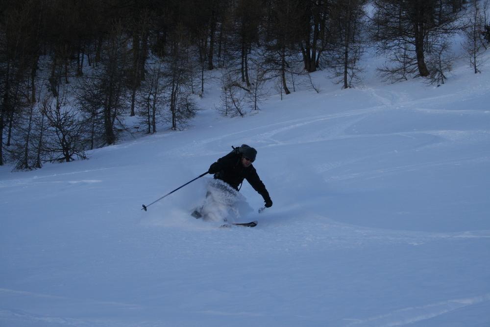 Ski de randonnée - Les Orres - Clem découvre les joies de la profonde